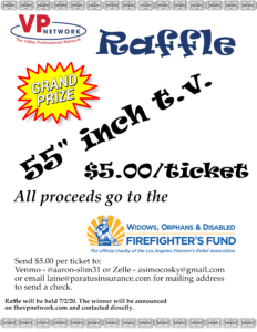 Valley Professionals Raffle July 1st flyer